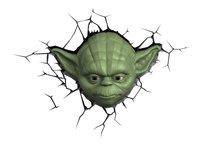 3DLightFX muurlamp Star Wars Yoda-Vooraanzicht