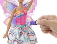 Barbie poupée mannequin Dreamtopia Fée avec des ailes virevoltantes-Image 2