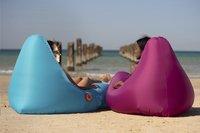 Sunvibes opblaasbare loungezetel Travel Lounger turkoois-Afbeelding 3