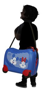 Samsonite valise rigide Dream Rider Disney Mickey et Minnie bleu 50 cm-Image 1
