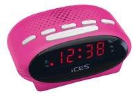 iCES radio-réveil ICR-210 rose