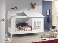 Vipack huisbed met open dak en raam wit-Afbeelding 1