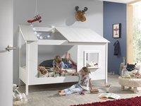 Vipack huisbed met open dak en raam wit-Afbeelding 3