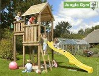 Jungle Gym tour de jeu en bois Palace avec toboggan jaune