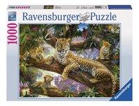Ravensburger puzzel Trotse luipaardmoeder-Vooraanzicht