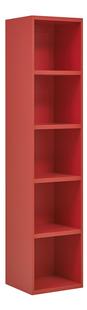 Bibliothèque Babel rouge-Côté gauche