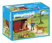 PLAYMOBIL Country 6134 Golden Retrievers met puppy's-Vooraanzicht