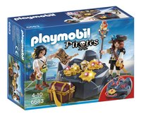 Playmobil Pirates 6683 Pirates et trésor royal-Avant