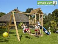 Jungle Gym portique avec tour de jeu Club et toboggan bleu