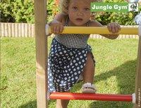 Jungle Gym houten speeltoren Palace met gele glijbaan-Afbeelding 3