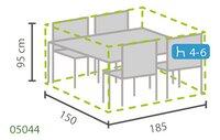Outdoor Covers Premium beschermhoes voor tuinset L 185 x B 150 x H 95 cm polypropyleen-Artikeldetail