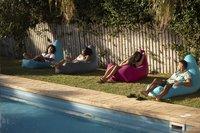 Sunvibes opblaasbare zetel Travel Chair turkoois-Afbeelding 1