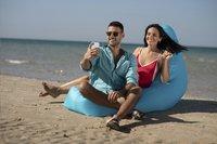 Sunvibes opblaasbare loungezetel Travel Lounger turkoois-Afbeelding 2
