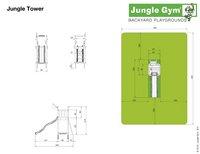 Jungle Gym houten speeltoren Tower met groene glijbaan-Artikeldetail