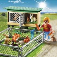 Playmobil Country 6140 Enfant avec enclos à lapins et clapier-Image 1