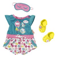BABY born set de vêtements pyjama avec chaussures