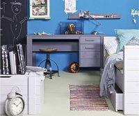 Canapé-lit Dennis gris béton-Image 1