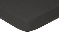 Sleepnight drap-housse anthracite en coton 180 x 200 cm