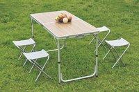 Nordic Master Opklapbare tafel Cordoba XL met 4 kampeerstoelen-commercieel beeld