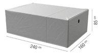 AquaShield housse de protection pour ensemble de jardin en polyester L 240 x Lg 160 x H 85 cm-Détail de l'article