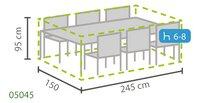 Outdoor Covers Premium beschermhoes voor tuinset L 245 x B 150 x H 95 cm polypropyleen-Artikeldetail