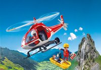 Playmobil Action 9127 Reddingswerkers met helikopter -Afbeelding 1