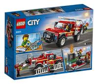 LEGO City 60231 Reddingswagen van brandweercommandant-Achteraanzicht