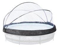 EXIT Overkapping voor zwembad Stone of Wood Ø 3,60 m-Vooraanzicht