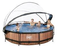 EXIT zwembad Wood met overkapping Ø 3,6 m-Afbeelding 1