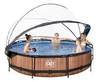 EXIT zwembad Wood met overkapping Ø 3,6 m-Afbeelding 2