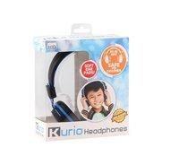 Kurio hoofdtelefoon voor kids zwart/blauw-Linkerzijde