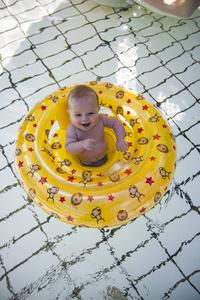 Swim Essentials Zwemband gele Circusprint-Afbeelding 3