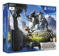 PS4 console slim 1 To + Horizon Zero Dawn + manette supp.