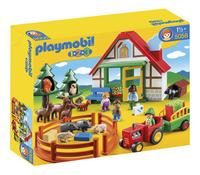 Playmobil 1.2.3 5058 Boswachtershuis met dieren
