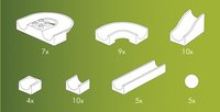 Hubelino accessoires voor knikkerbaan 50 stuks-Artikeldetail