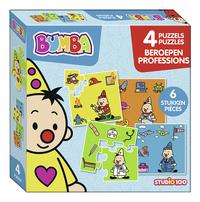 Studio 100 puzzel 4-in-1 Bumba Beroepen-Linkerzijde