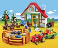 Playmobil 1.2.3 5058 Boswachtershuis met dieren-Afbeelding 1