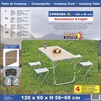 Nordic Master Opklapbare tafel Cordoba XL met 4 kampeerstoelen-Artikeldetail