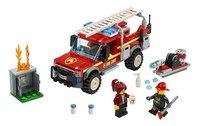 LEGO City 60231 Reddingswagen van brandweercommandant-Vooraanzicht