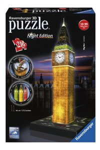 Ravensburger 3D-puzzel Big Ben Night Edition-Vooraanzicht