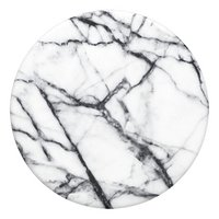 PopSockets Phone grip Dove White Marble-Bovenaanzicht