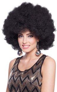 Pruik afro zwart XL-Afbeelding 2