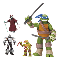 Set 4 figuren Ninja Turtles-Vooraanzicht