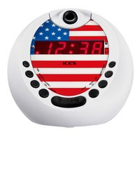 iCES radio-réveil avec projection USA ICRP-212