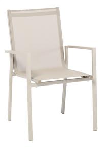 Chaise de jardin Forios sable/champagne