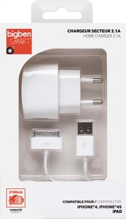 Bigben chargeur 30 broches pour iPhone-iPad-iPod blanc
