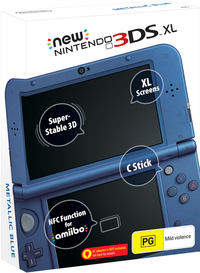 New Nintendo 3DS XL console Metallic Blue