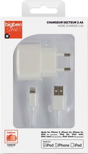 bigben chargeur lightning pour iPhone-iPad-iPod blanc-Avant