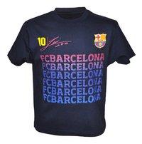 T-shirt FC Barcelona Messi zwart-Vooraanzicht
