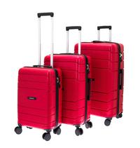 Davidt's set van 3 harde trolleys Camino rood-Rechterzijde